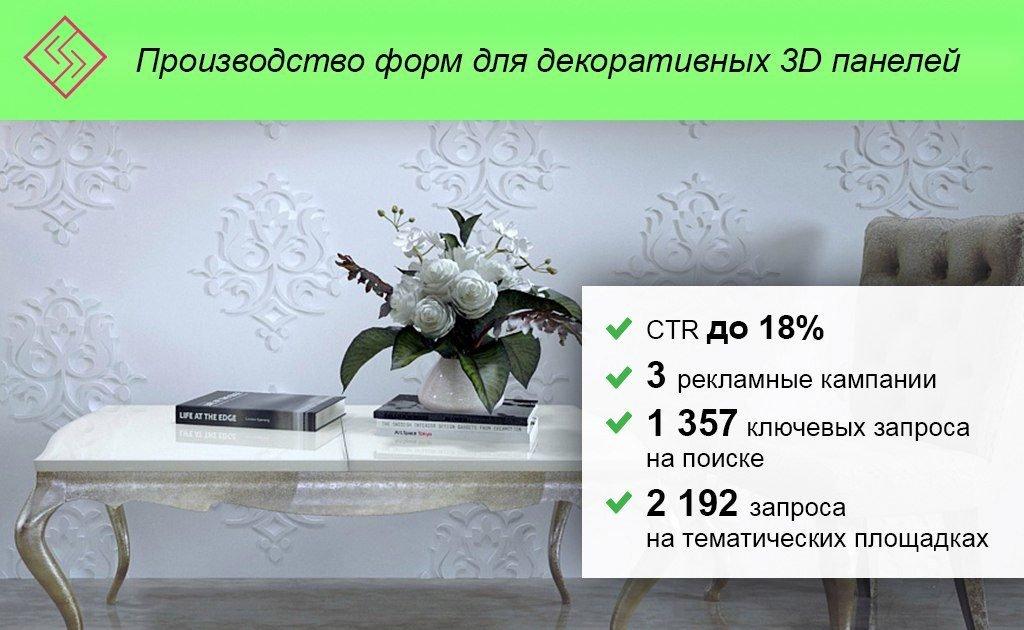 Контекстная реклама 3д панелей